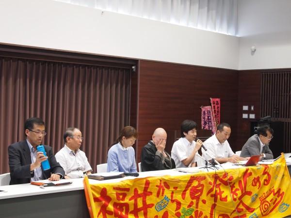 6月8日、島崎氏の陳述書を提出した大飯控訴審口頭弁論期日後の記者会見(金沢弁護士会館)