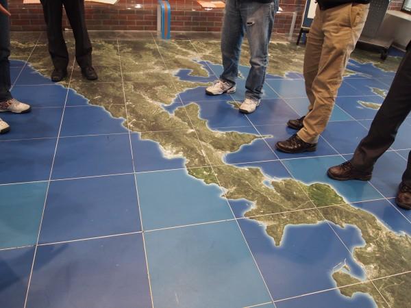 PRセンター地図。佐田岬の付け根に位置する伊方原発